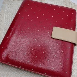 Vintage Franklin Covey Red polka dot planner